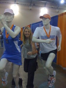 Me racing mannequins at the expo :)