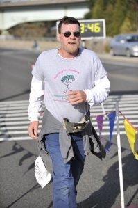 Dad finishing 5 miles at RFA  year 1!!