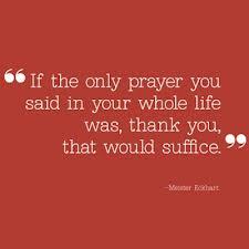 gratitute prayer